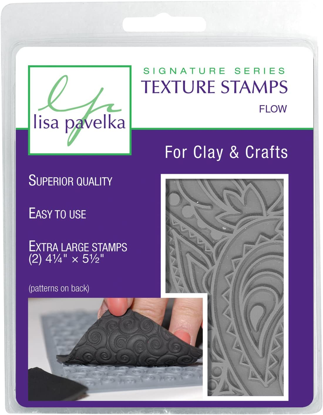 Paisley Great Create Lisa Pavelka Individual Texture Stamp 4.25 x 5.5-inch