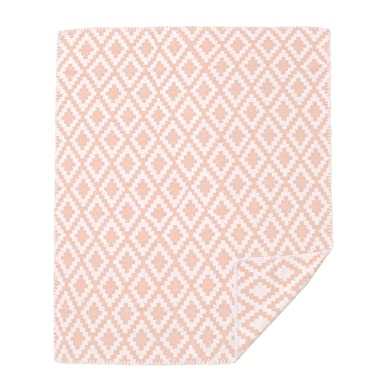 aebe184bfcb5dc Amazon.co.jp: KLIPPAN クリッパン 2612 Diamonds baby ダイアモンドベビー 70×90 オーガニックコットン  ハーフ ミニブランケット 03/pale-pink 70×90 [並行輸入品]: ...