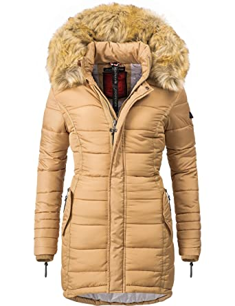 34269d6e268a Navahoo Damen Winter-Jacke Steppjacke Papaya (vegan Hergestellt) 11 Farben  XS-XXL  Amazon.de  Bekleidung
