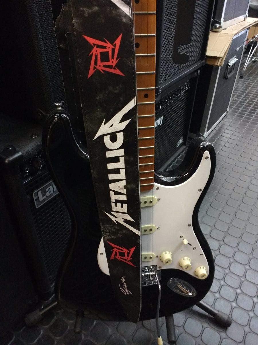 Metallica - Correa para guitarra o bajo (piel ecológica): Amazon ...