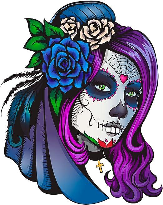 Oedim Pack 5 Pegatinas Coche Ilustración Chica Día de los Muertos ...