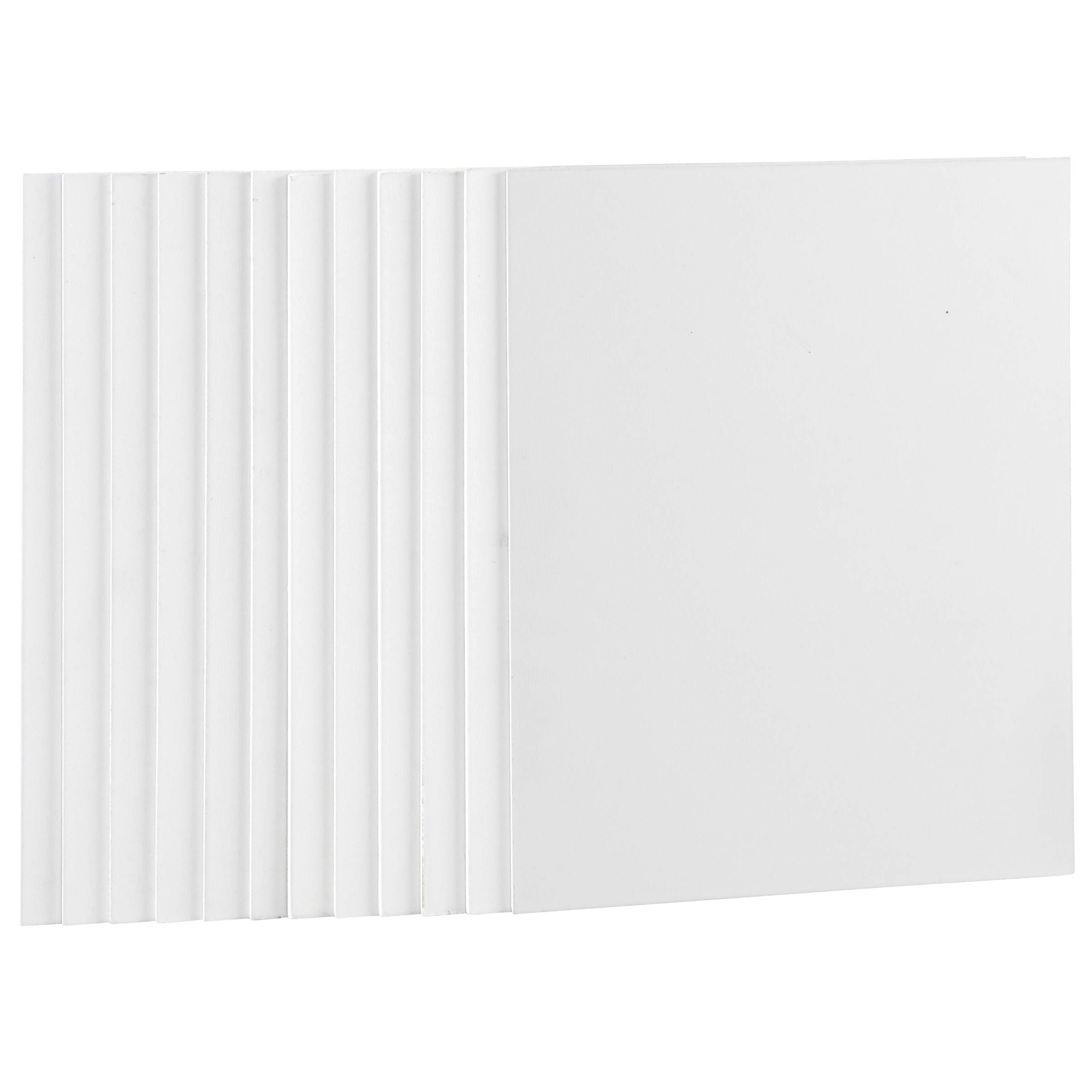 Artlicious Gesso Boards 12 Pack - 8X10 Art Boards for Painting