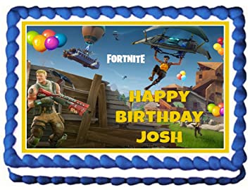 Fortnite 1 4 Sheet Personalized Edible Cake Topper Image Your Own
