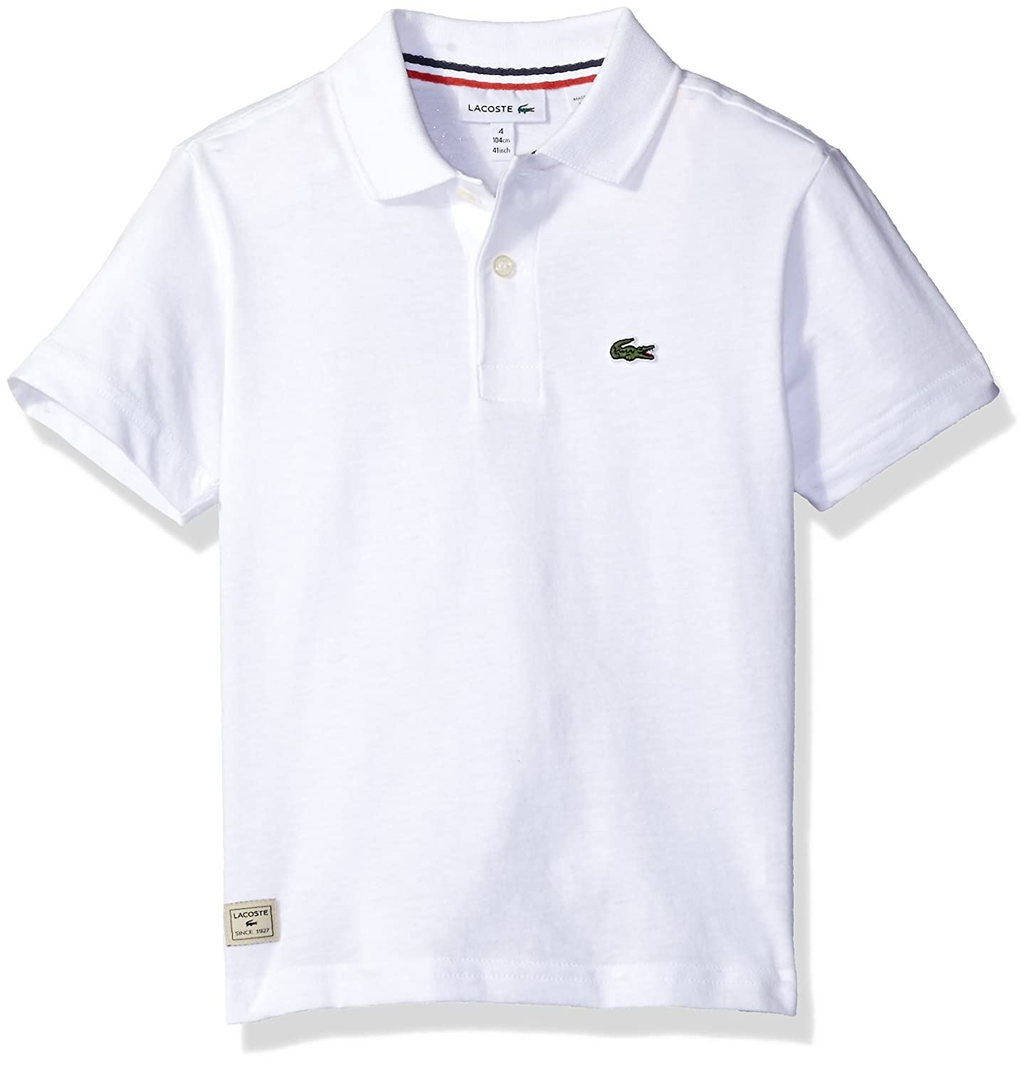 Lacoste Boy Short Sleeve Solid Jersey Polo Shirt
