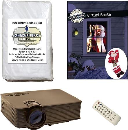 Virtual Santa Proyector Kit con proyector, ventana pantalla de ...