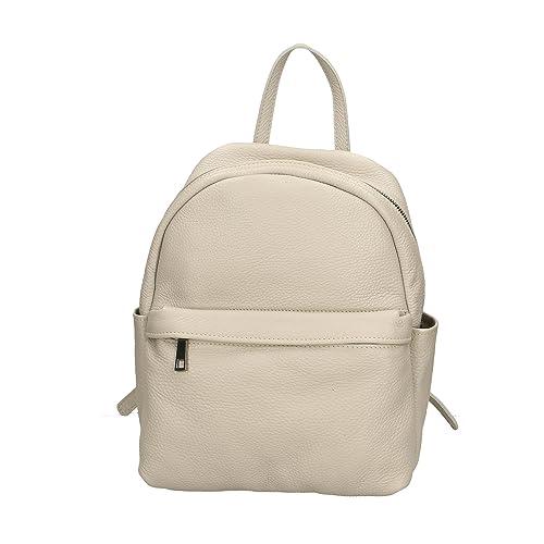 7024aa1a35 Aren - Backpack Borsa Zaino da Donna in Vera Pelle Made in Italy - 35x31x13  Cm: Amazon.it: Scarpe e borse