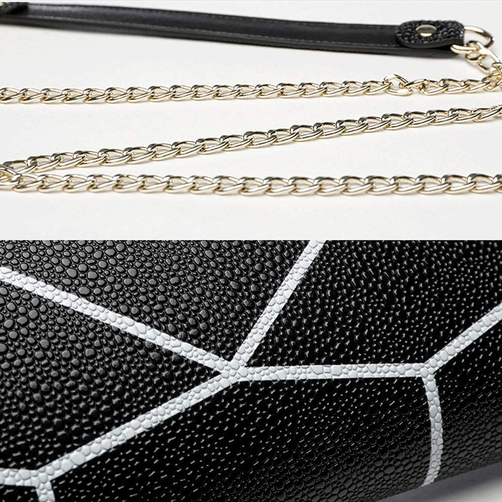 Jian E Shoulder Bag Personalized Clutch Fashion Leather Bag Trendy Versatile Diagonal Shoulder Bag Color : Black
