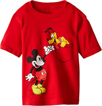 Disney Mickey Mouse Sweatshirt Top for Toddler Boy 2T 4T 5T Red