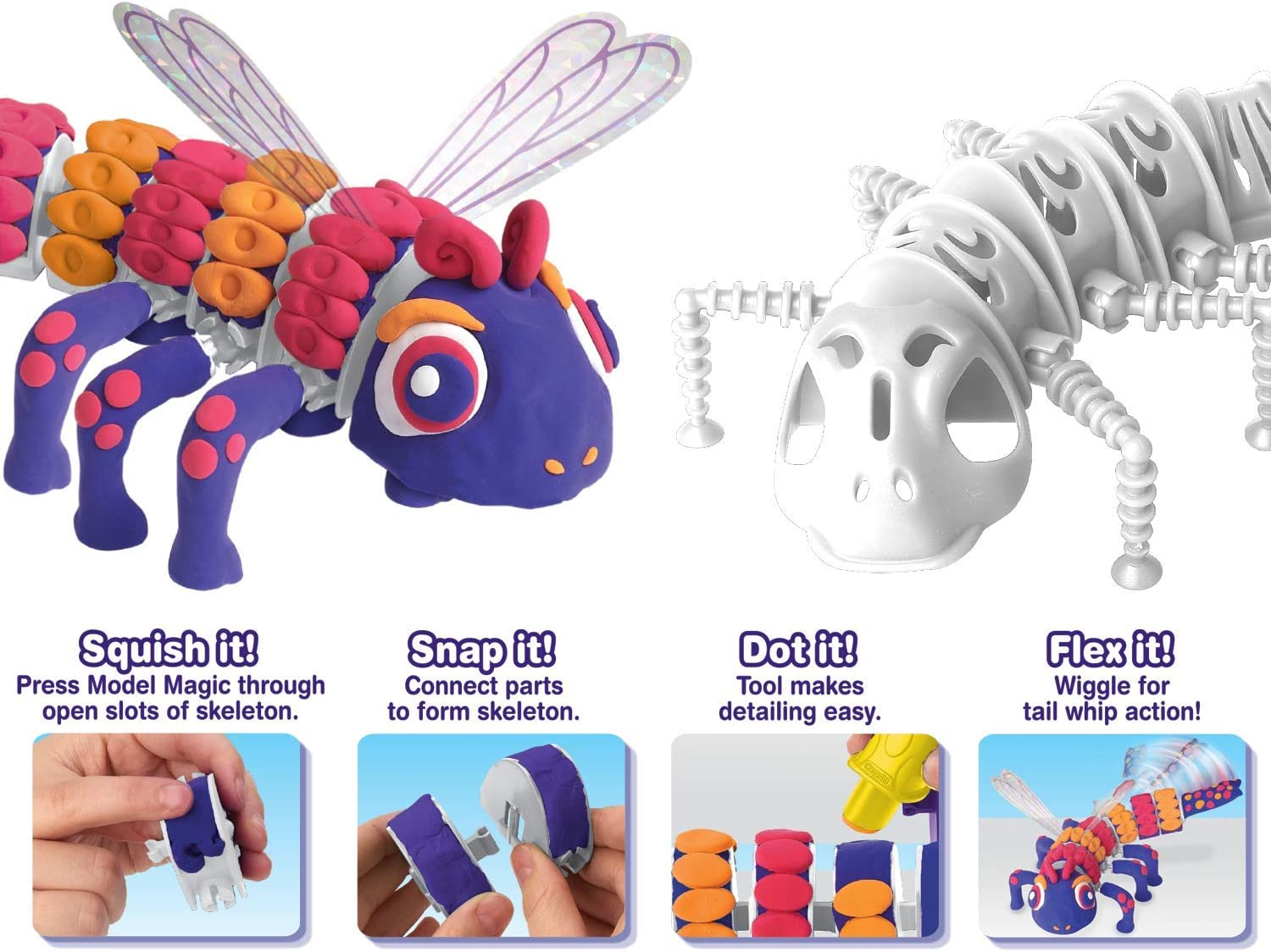 Model Magic Craft Kit 6 7 Gift for Kids 8 Steam// Stem Learning Toys 5 Crayola Build A Beast Dragonfly