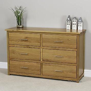The Furniture Market New London Essentials Eiche Breit Kommode 6