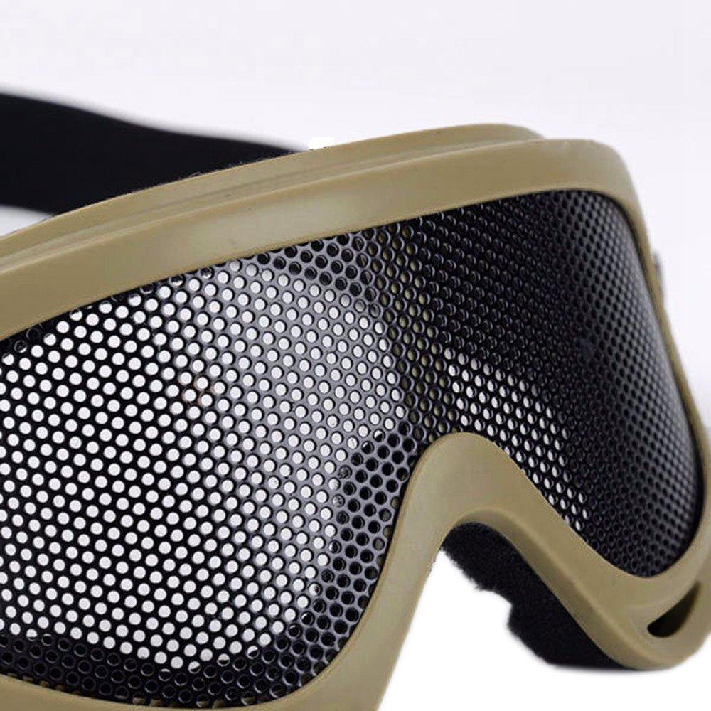 Attivit/à Esterna Alxcio Occhiali di Protezione Viso Rete Metallica Maschera Staccabili per Ciclismo Motocross Sci Snowboard Bicicletta Cross ATV Google Anti-UV Antinebbia