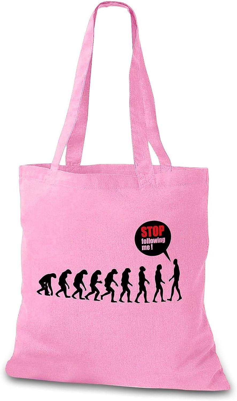 stylobag yute Bolsa Stop Following Me – Funny Evolution plástico ...
