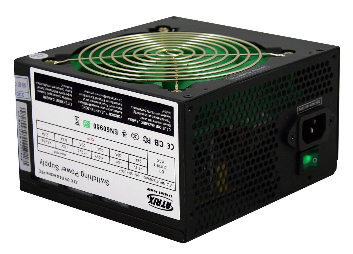 Atrix 720w Black 12cm Silent Dual 12v Rail Atx Power Supply Amazon Computers Accessories