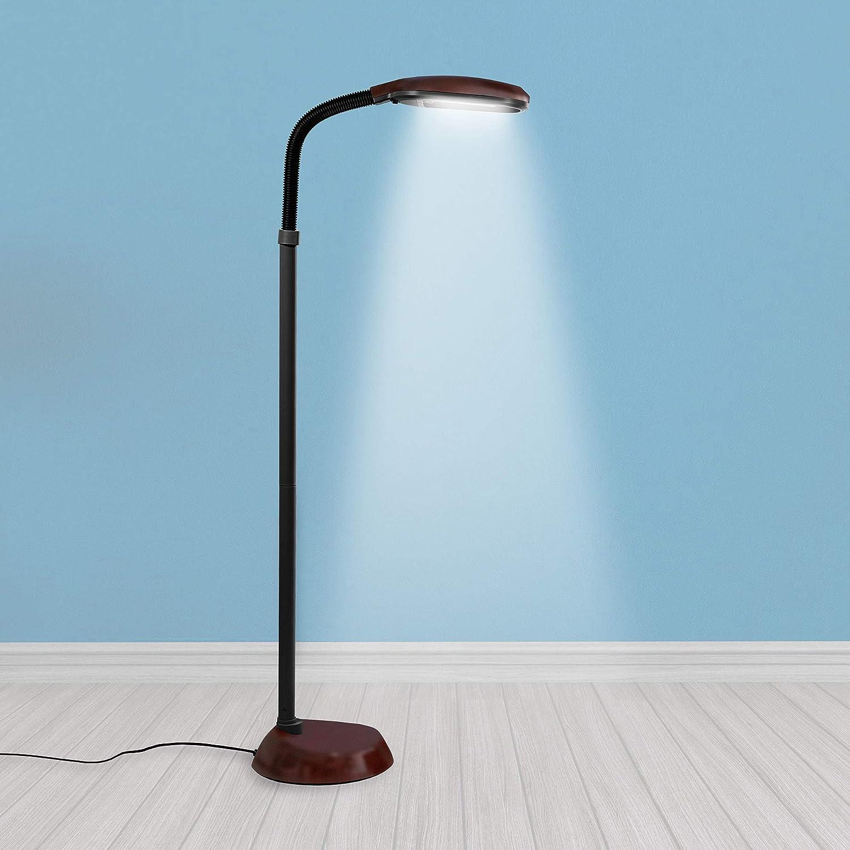 Kenley Natural Daylight Floor Lamp - Tall Reading Task Craft Light - 10W  Full Spectrum White Bright Sunlight Standing Torchiere for Living Room