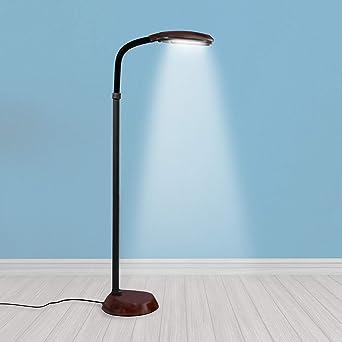 NEW Full Spectrum Daylight Floor Lamp 54 inch Black with adjustable Neck w// Bulb