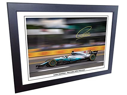 Amazon.com  12x8 A4 Signed Lewis Hamilton 2017 18 Mercedes-AMG ... 1ee1d1002c5