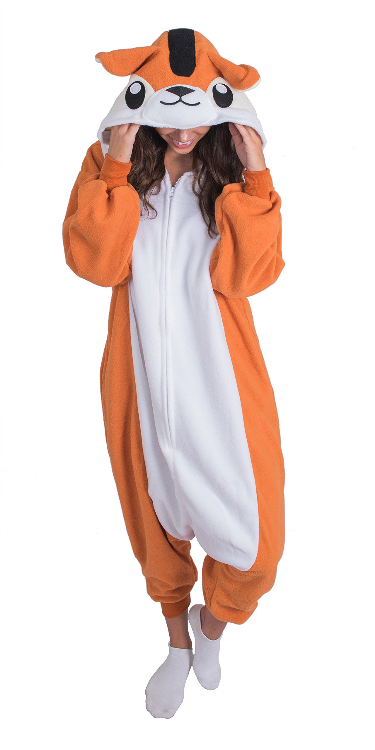 Bad Bear Brand Adult Onesie Chipmunk Animal Pajamas Comfortable Costume With Zipper and Pockets (X-Large)