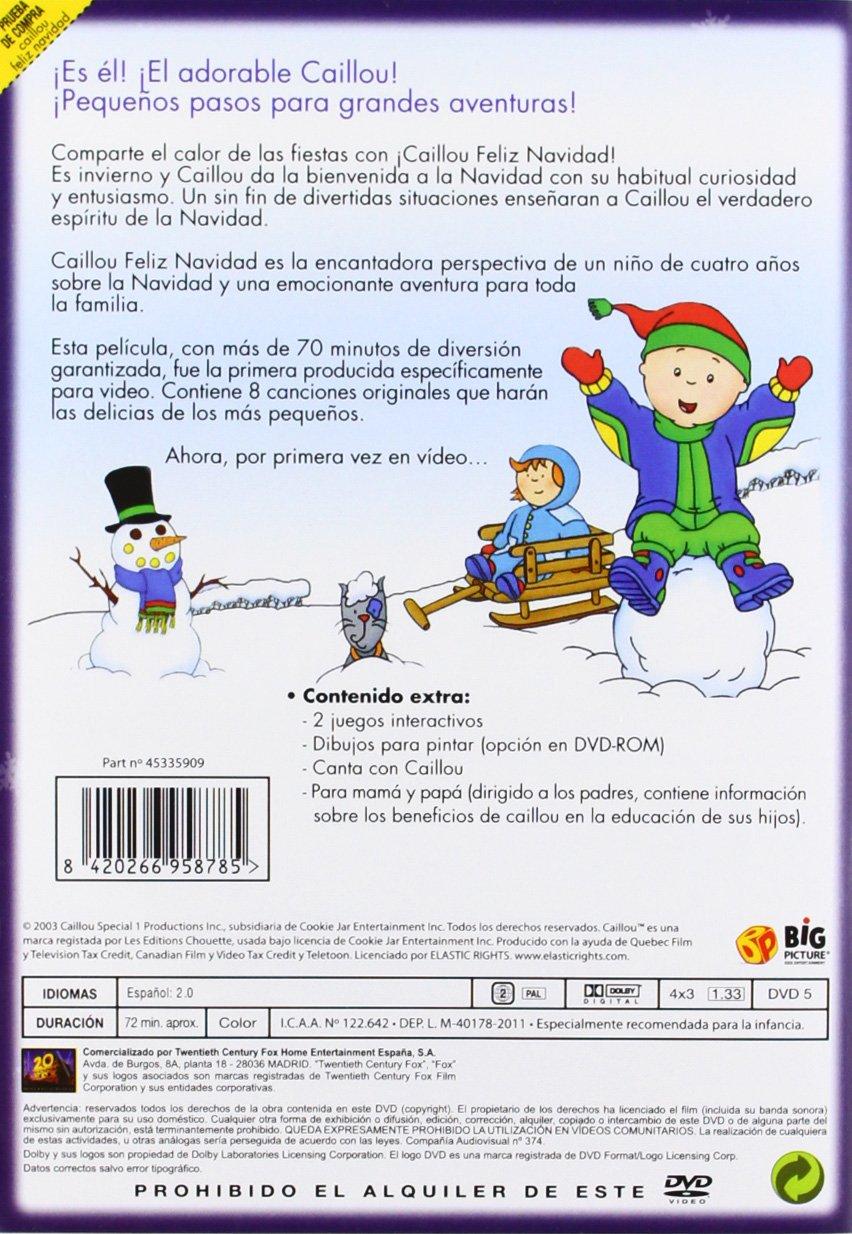 Caillou Feliz Navidad Dvd Import European Format  Region 2