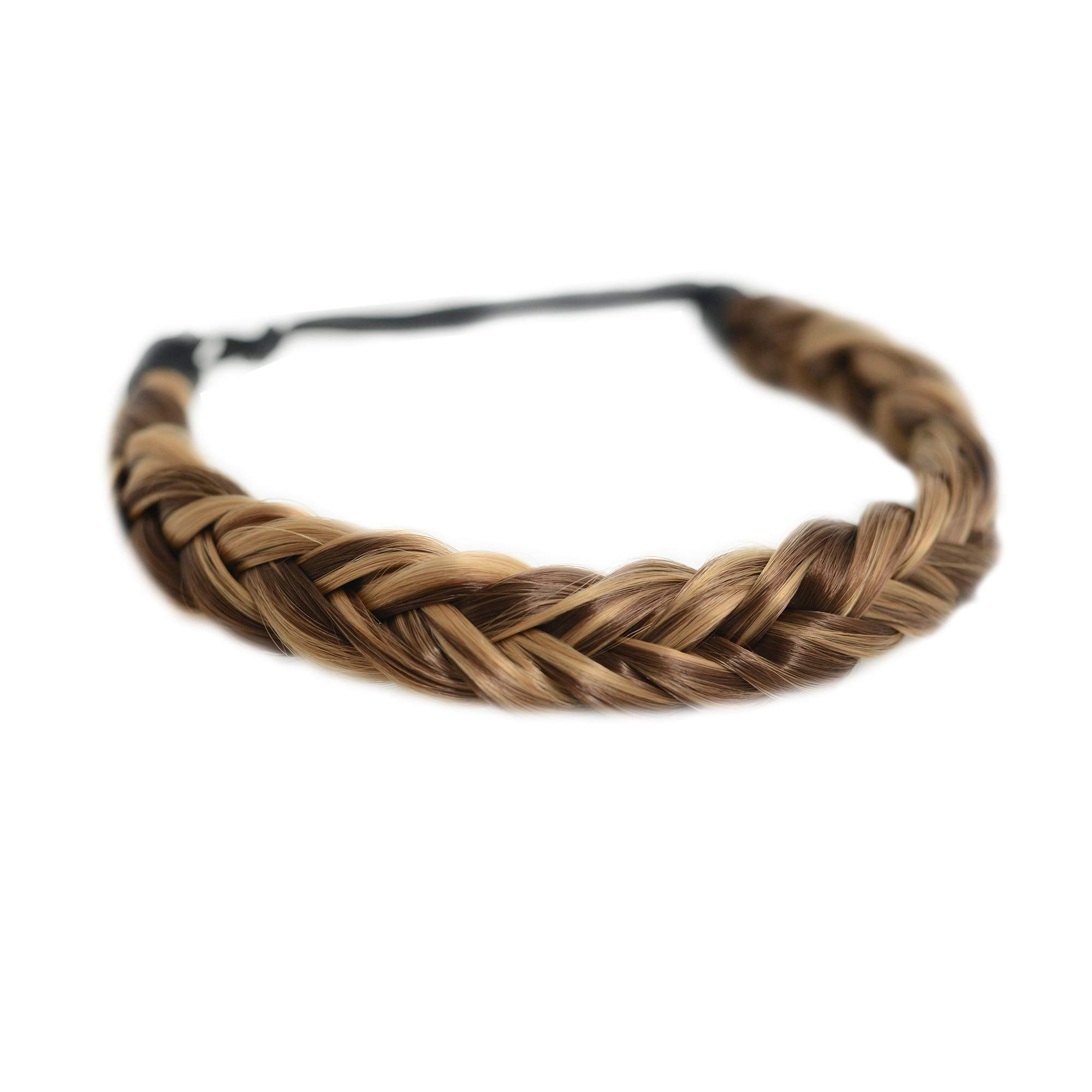 Madison Braids Women's Two Strand Headband Hair Braid Natural Looking Synthetic Hair Piece Extension - Lulu - Highlighted by MADISON BRAIDS