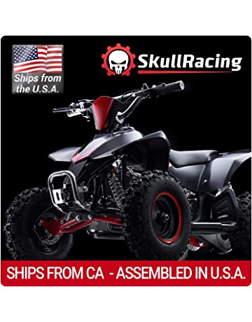 SkullRacing Gas Powered Mini ATV Four Wheeler 50RR (Red)