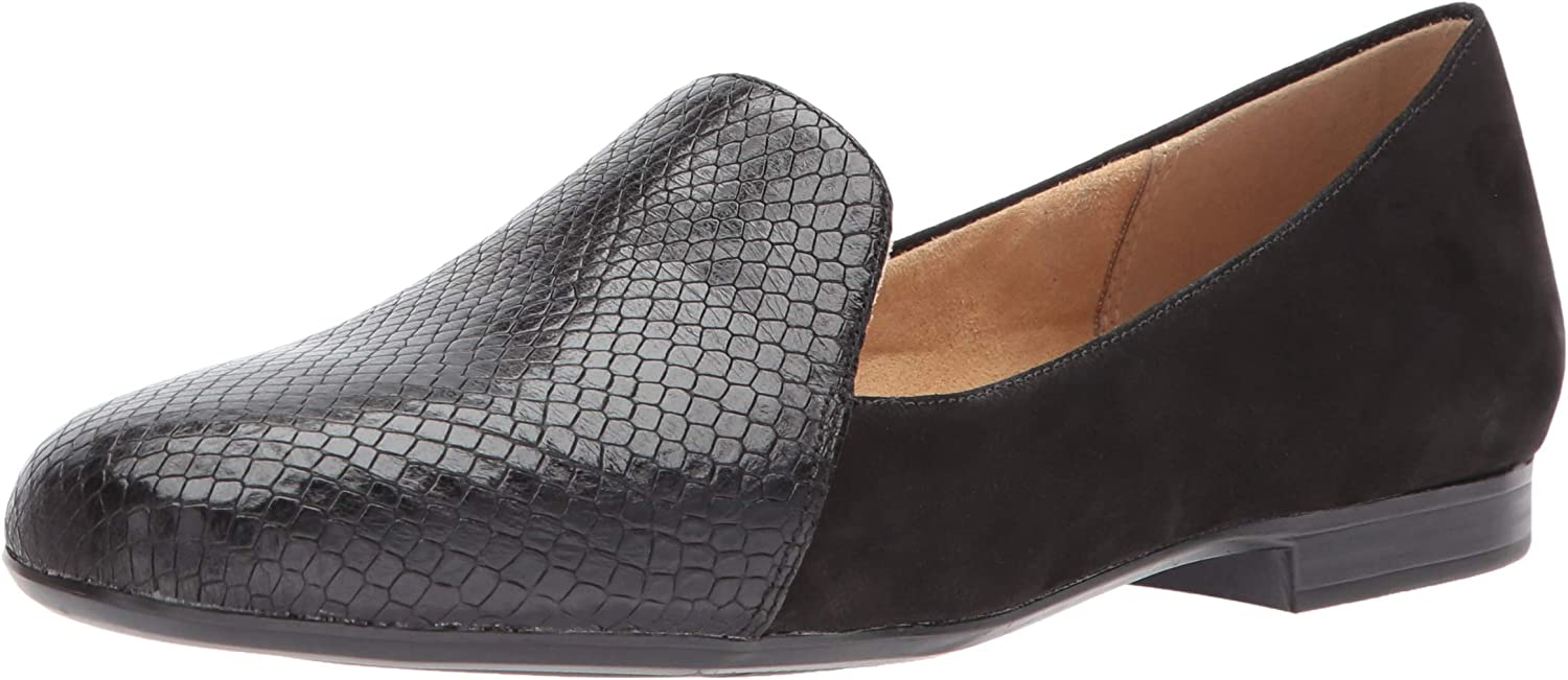 Naturalizer Womens Emiline Leather Closed Toe Loafers Marble Croco Size 7.5