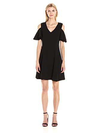 1261ebc9474 Sharagano Women s Cold Shoulder Crepe Dress at Amazon Women s ...