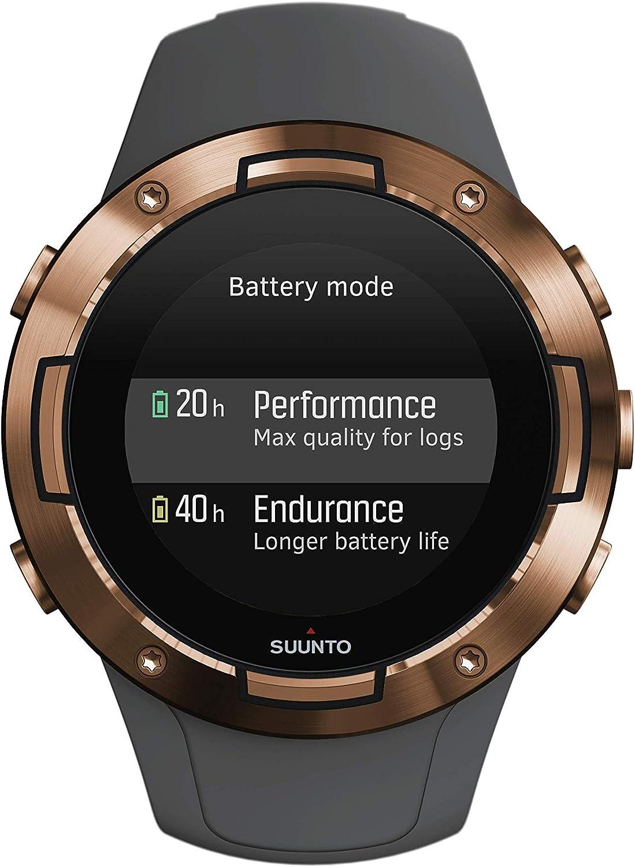 Suunto 5 Reloj multideporte GPS, unisex adulto, cristal mineral, acero inoxidable, silicona, gris (graphite), SS050302000