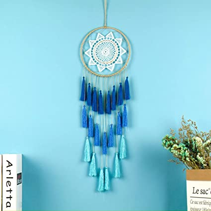 Jewh Gift Tassel & Lace Dreamcatcher Wind Chimes Tassel Pendant Big Dream Catcher - Home Wall