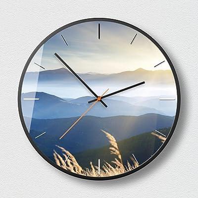 kaige Wall Clocks Mute fashion wall Clock office round bedroom wall Clock
