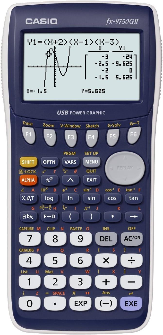 CASIO FX-9750GII - Calculadora gráfica, 21.3 x 87.5 x 180.5 mm, azul / gris: Amazon.es: Informática