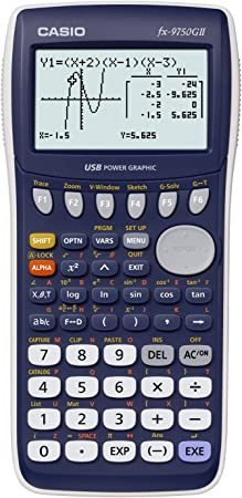 Amazon.com : Casio fx-9750GII Graphing Calculator, Blue : Graphing Calculators : Office Products