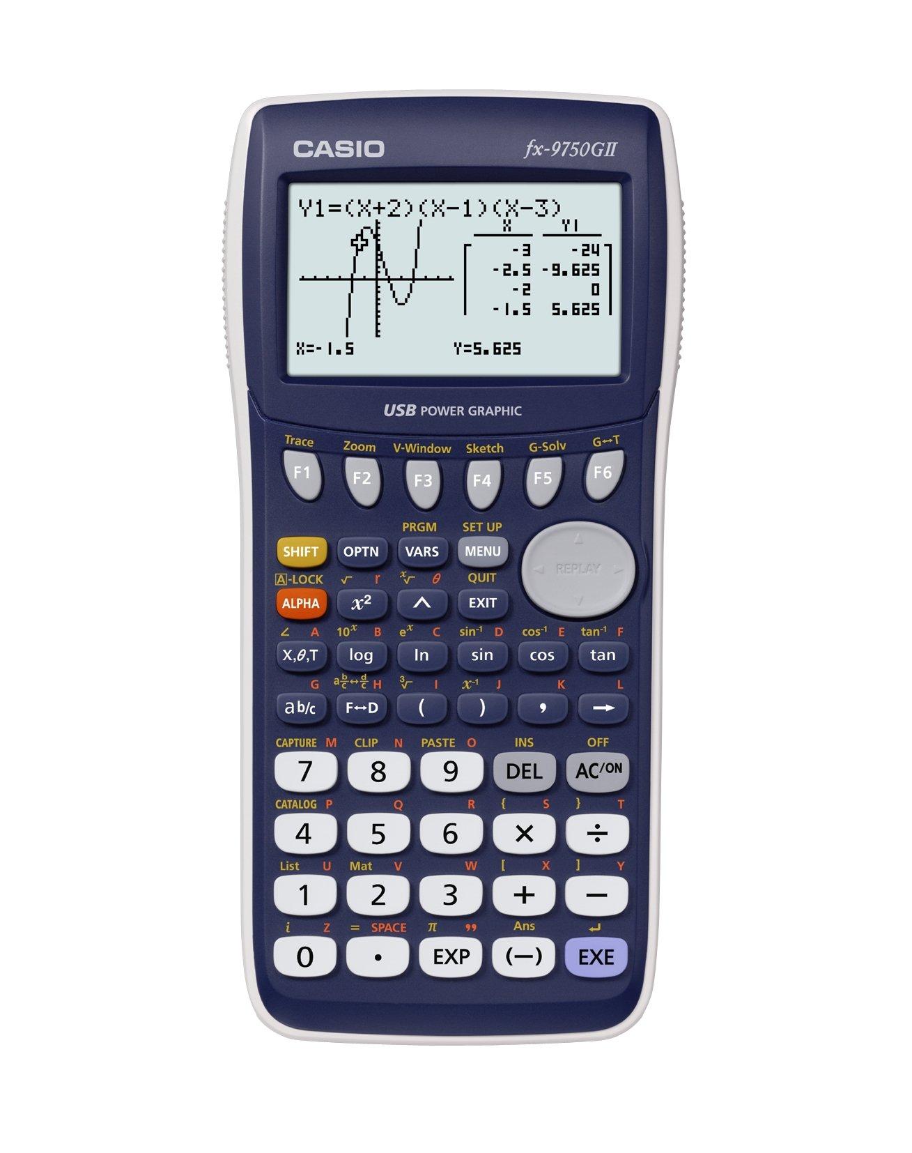 Casio fx-9750GII Graphing Calculator, Blue