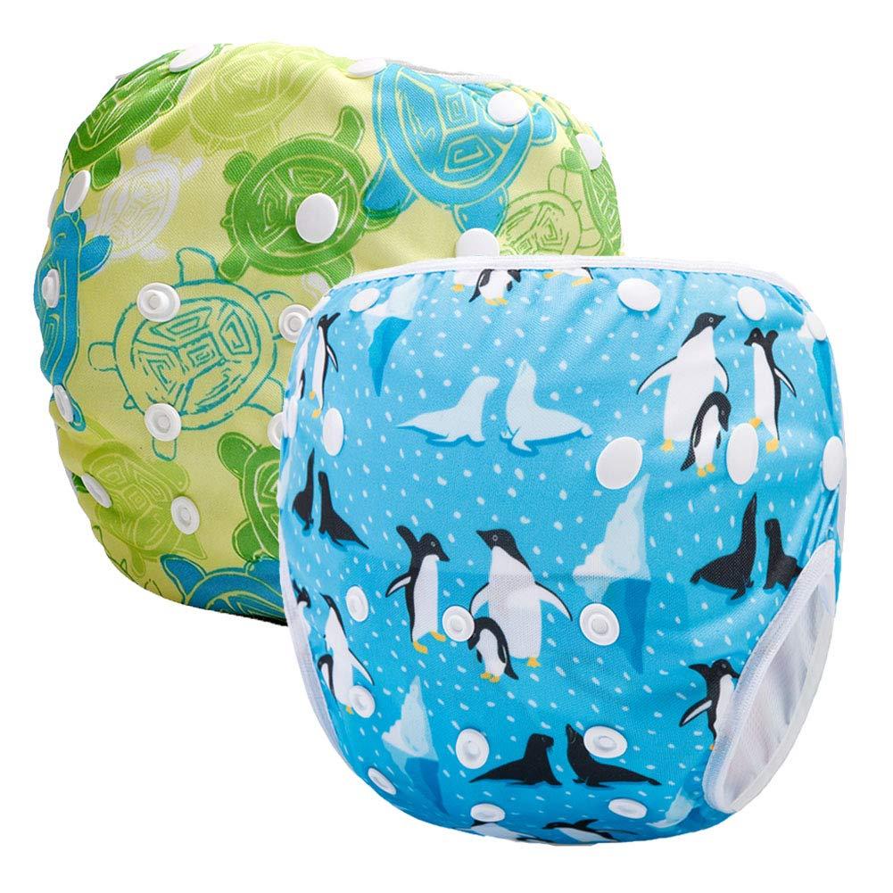 Storeofbaby 2pcs Reusable Baby Swim Diapers