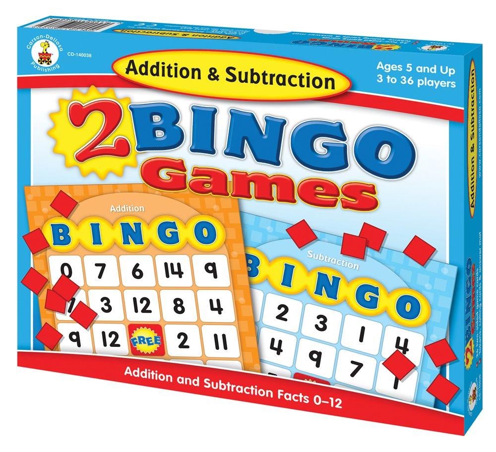 Amazon.com: Addition & Subtraction Bingo: Carson-Dellosa Publishing ...