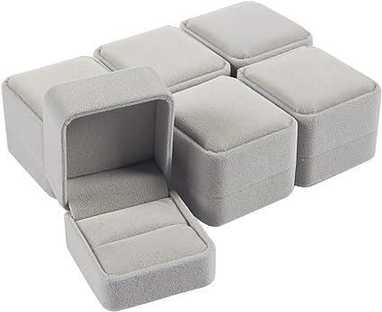 Juvale 6 Pack Conjunto Joyero - Joyeros - terciopelo caja de la ...