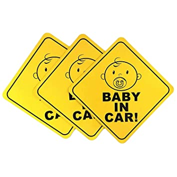 Highly Reflective Baby on Board Car Magnet