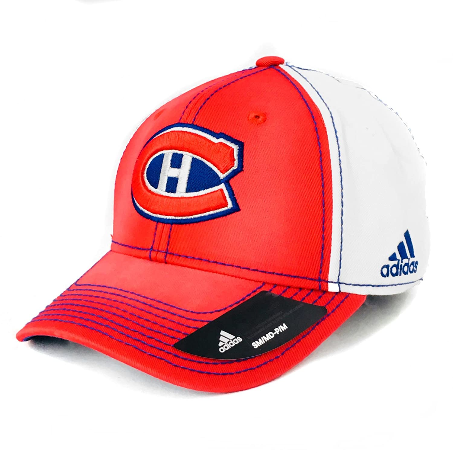 reputable site 426de cca68 ... uk amazon montreal canadiens adidas 100th year structured flex fit hat  small medium sports outdoors ce937