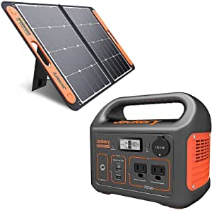 Jackery Solar Generator 300, 293Wh Backup Lithium Battery, 110V/300W Pure Sine Wave AC Outlet, Solar Generator for Outdoors Camping Travel Hunting Emergency