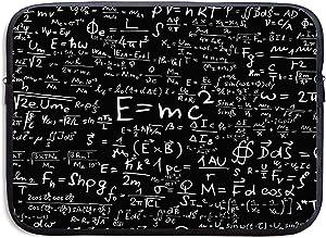13 Inch Laptop Sleeve Briefcase,Physics Mathematics Equation Equations Physics Formula Neoprene Waterproof Handbag for Surface Laptop MacBook Pro/MacBook Air/Acer/Asus/Dell/Lenovo/iPad/Surface Book