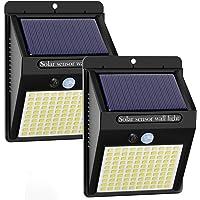 Kolpop luz solar exterior,【2-Paquete】luces led solares para exteriores, 100 LED/3 Modos focos led exterior solares 270º…