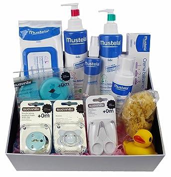 Farmagenia Parafarmacia- Cesta de regalo para bebes y recien nacidos, azul: Amazon.es: Bebé