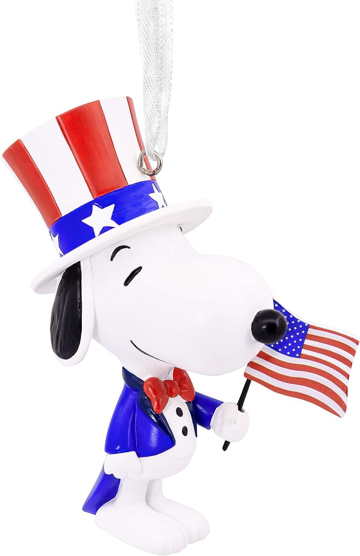 Hallmark Christmas Ornament, Peanuts Patriotic Snoopy