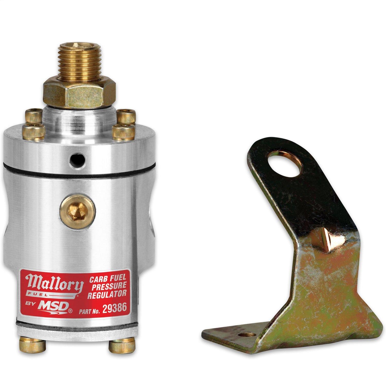 Mallory 29386 Fuel Pressure Regulator (Almnm, 4-12PSI2port)