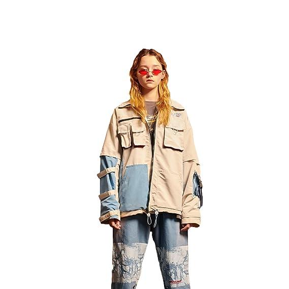 DEBAIJIA Chaqueta de Las señoras Mujer Chaquetas Abrigos Outwear Sudaderas Ropa Deportiva Tops Moda Casual Imprimir Streetwear Joven Hip Hop Tendencia ...