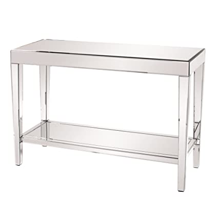 Superieur Howard Elliott 11096 Mirrored Console Table With A Bottom Shelf