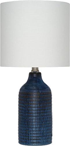 Amazon Brand Stone Beam Glazed Ceramic Table Lamp