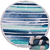 Same Pattern Different Quality 2018 New Developed Material Thick Round Beach Towel Round Beach Blanket 100% Microfiber Terry Quality with Tassels 62 inches