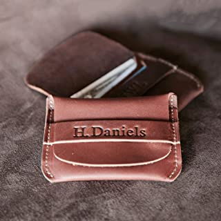 product image for No. 3 Babe Ruth – Personalized Fine Leather Front Pocket Wallet