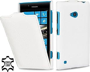 Esclusiva custodia UltraSlim Stilgut in vera pelle per Nokia Lumia 720 - bianco