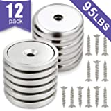 Neodymium Cup Magnets, Strongest Round Base Magnets,Hold up to 95 Pounds - 12pack